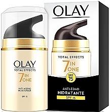 Parfumuri și produse cosmetice Cremă hidratantă de zi pentru față SPF15 - Olay Total Effects Anti-Edad Hidratante SPF15