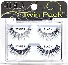Parfumuri și produse cosmetice Set gene false, 2 perechi - Ardell Twin Pack Wispies Black