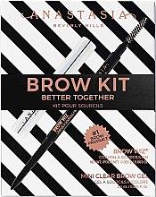 Parfumuri și produse cosmetice Anastasia Beverly Hills Better Together Brow Kit Soft Brown (pencil/0.08g + gel/2.5g) - Set