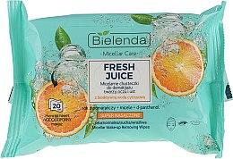 """Parfumuri și produse cosmetice Șervețele micelare demachiante """"Orange"""" - Bielenda Fresh Juice Micelar Make-up Removing Wipes"""
