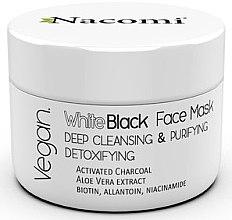 Parfumuri și produse cosmetice Masca de față din carbon activat - Nacomi White & Black Face Mask