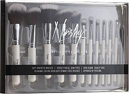 Parfumuri și produse cosmetice Set de pensule machiaj - Nanshy Masterful Collection Pearlescent White (Brush/15)
