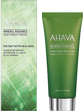 Mască de față - Ahava Mineral Radiance Instant Detox Mud Mask — Imagine N1