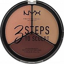 Parfumuri și produse cosmetice Paletă pentru conturarea feței - NYX Professional Makeup 3 Steps To Sculpting Palette
