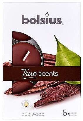 "Lumânare aromatică ""Arbore de agar"" - Bolsius Scented Tea Light Candles True Scents Oud Wood"