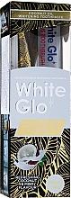 Parfumuri și produse cosmetice Set cu perie verde deschis - White Glo Coconut Oil Shine (toothpaste/120ml + toothbrush)