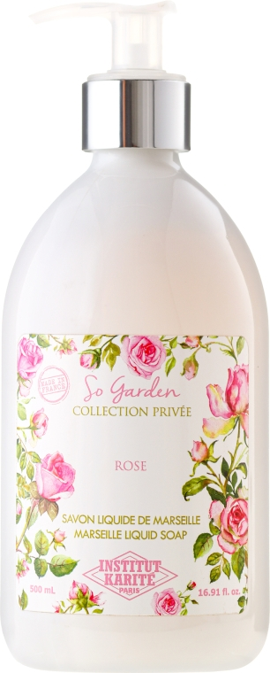 "Săpun lichid ""Trandafir"" - Institut Karite So Garden Collection Privee Rose Marseille Liquid Soap — Imagine N1"