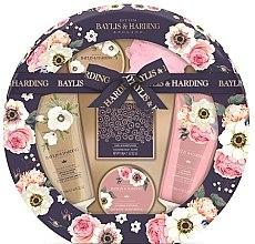 Parfumuri și produse cosmetice Set - Baylis & Harding Royale Garden (sh/cr/130ml + b/wash/130ml + b/butter/100ml + soap/150g + b/krystals/100g + sponge/1)
