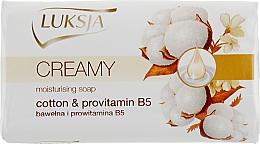 Parfumuri și produse cosmetice Săpun cu lapte de bumbac și provitamină B5 - Luksja Cotton Milk Provitamin B5 Soap