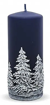 "Lumânare decorativă ""Christmas trees"", albastră, 7x18 cm - Artman Christmas Tree Candle — Imagine N1"