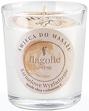 "Parfumuri și produse cosmetice Lumânare de masaj în pahar ""Smoothing caramel"" - Flagolie Caramel Smoothing Massage Candle"