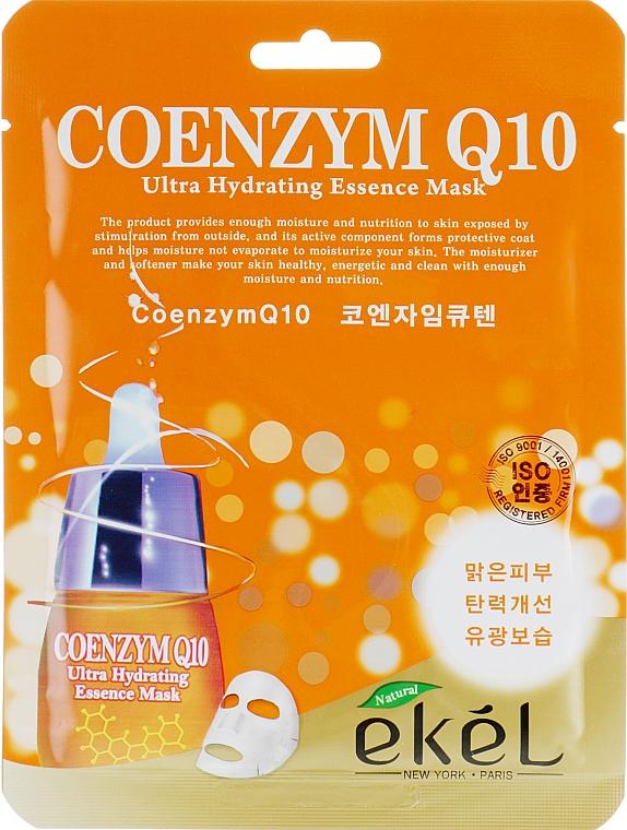 Mască din țesătură cu coenzima Q10 pentru față - Ekel Coenzym Q10 Ultra Hydrating Essence Mask