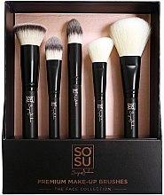 Parfumuri și produse cosmetice Set pensule pentru machiaj - Sosu by SJ Premium Makeup Brushes (5 szt.)