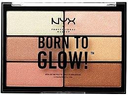 Parfumuri și produse cosmetice Paleta de farduri iluminatoare - NYX Professional Makeup Professional Born to Glow Highlighting Palette