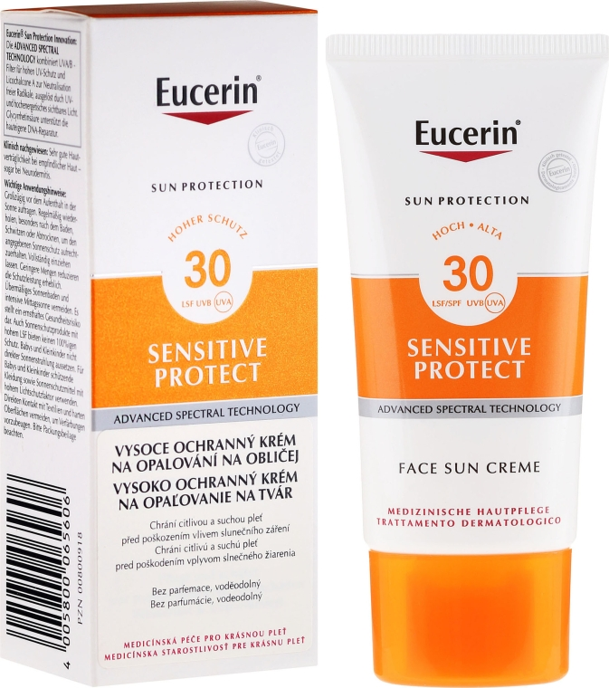 Cremă de protecție solară pentru față SPF30 - Eucerin Sun Protection Sun Face Cream SPF30