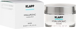 Parfumuri și produse cosmetice Mască de față - Klapp Hyaluronic Mask