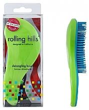 Parfumuri și produse cosmetice Perie de păr, verde - Rolling Hills Detangling Brush Travel Size Shine Green