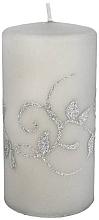 Parfumuri și produse cosmetice Lumânare decorativă, gri, 7x14cm, cilindru - Artman Amelia Candle