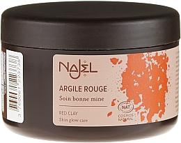 "Parfumuri și produse cosmetice Argilă cosmetică ""Red"" - Najel Red Clay For Healthy Glow"