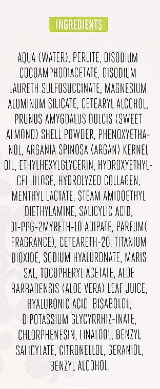 Scrub pentru față - Arganicare Collagen Boost Exfoliating Scrub — Imagine N3