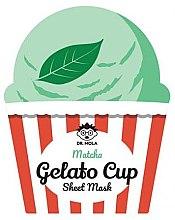 Parfumuri și produse cosmetice Mască de față - Dr. Mola Matcha Gelato Cup Sheet Mask