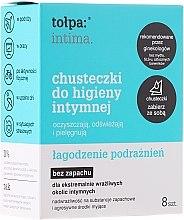 Parfumuri și produse cosmetice Șervețele umede calmante pentru igiena intimă 8buc - Tolpa Intima