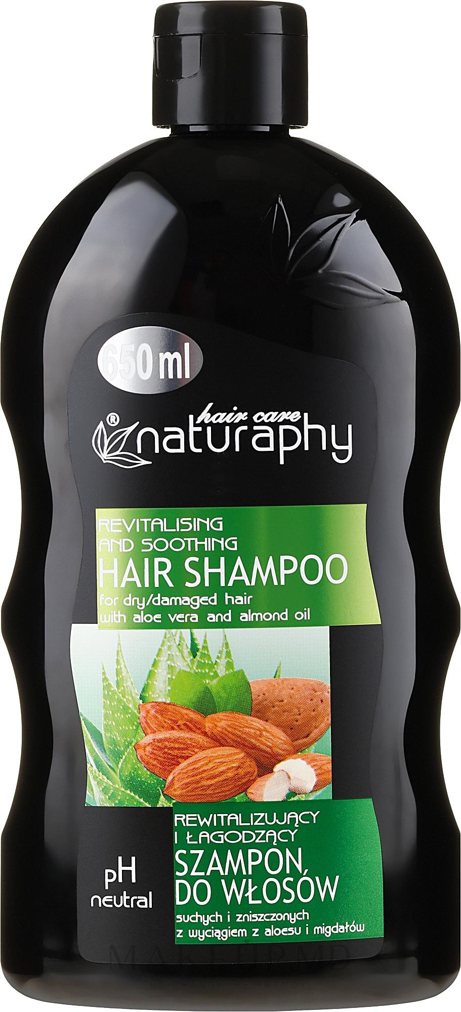 Sampon cu extract de migdale și Aloe Vera - Bluxcosmetics Naturaphy Hair Shampoo — Imagine 650 ml