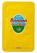 Parfumuri și produse cosmetice Mască cu extract de miere și banană pentru față - A'Pieu Sweet Banana Sheet Mask