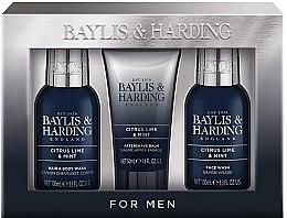 Parfumuri și produse cosmetice Set - Baylis & Harding Citrus Lime & Mint (b/wash/100ml + a/s/balm/50ml + wash/100ml)