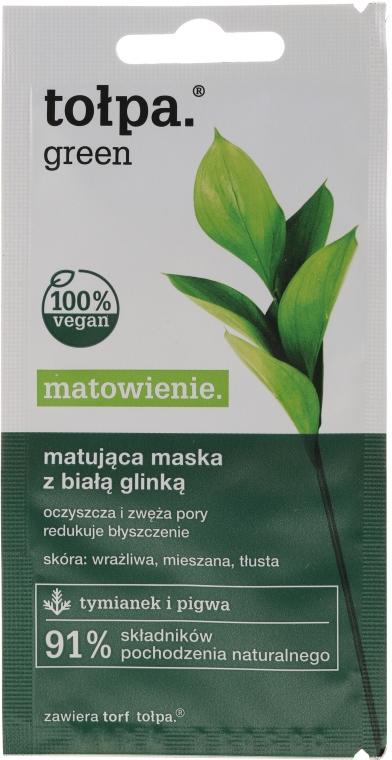 Mască de față cu efect matifiant - Tolpa Green Mask