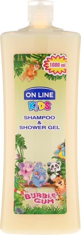 """Șampon-gel de duș """"Gumă de mestecat"""" - On Line Kids Shampoo & Body Wash Bubble Gum"""
