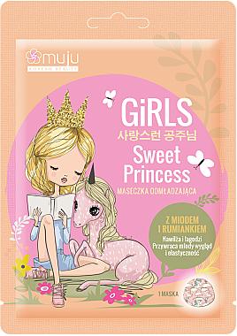 Mască de țesut pentru față - Muju Girls Sweet Princess Mask — Imagine N1