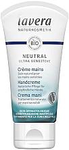 Parfumuri și produse cosmetice Cremă naturală de noapte pentru mâini - Lavera Neutral Green Ultra Sensitive Hand Cream