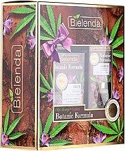 "Parfumuri și produse cosmetice Set ""Ulei de Cannabis + Șofran"" - Bielenda Botanic Formula (f/ser/15ml + f/cr/50ml)"