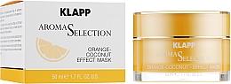 Parfumuri și produse cosmetice Mască de față - Klapp Aroma Selection Orange-Coconut Mask