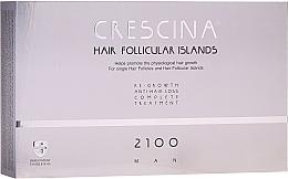 Parfumuri și produse cosmetice Complex tratament împotriva căderii părului, pentru bărbați, 2100 - Labo Crescina Hair Follicular Island Re-Growth Anti-Hair Loss Complete Treatment 2100 Man