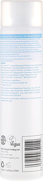 Tonic pentru față - Bentley Organic Skin Blossom Facial Toner — Imagine N2