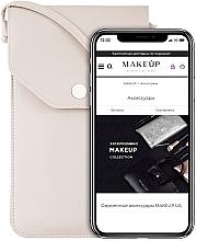 """Parfumuri și produse cosmetice Husă-gentuță pentru telefon, bej """"Cross"""" - Makeup Phone Case Crossbody Beige"""