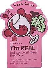 Parfumuri și produse cosmetice Листовая маска для лица - Tony Moly I'm Real Red Wine Mask Sheet