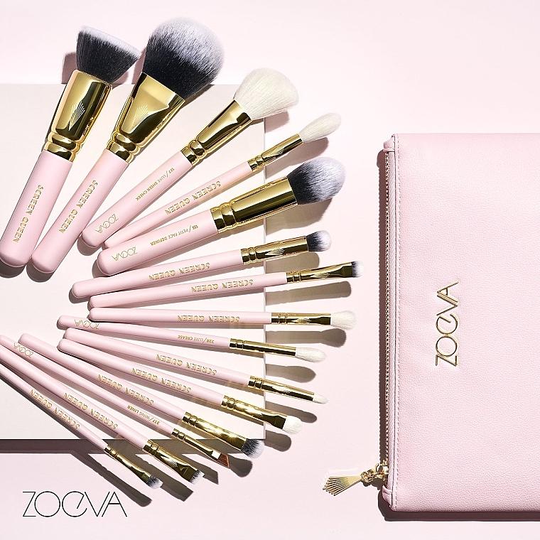 Set pensule pentru machiaj - Zoeva Screen Queen Complete Set (15 brushes + clutch) — Imagine N4