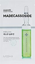Parfumuri și produse cosmetice Mască cu madecassoside pentru față - Missha Mascure Rescue Solution Sheet Mask Madecassoside