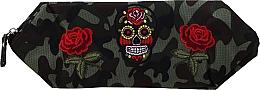 """Духи, Парфюмерия, косметика Косметичка """"Camouflage"""", 95887, розы и череп - Top Choice"""