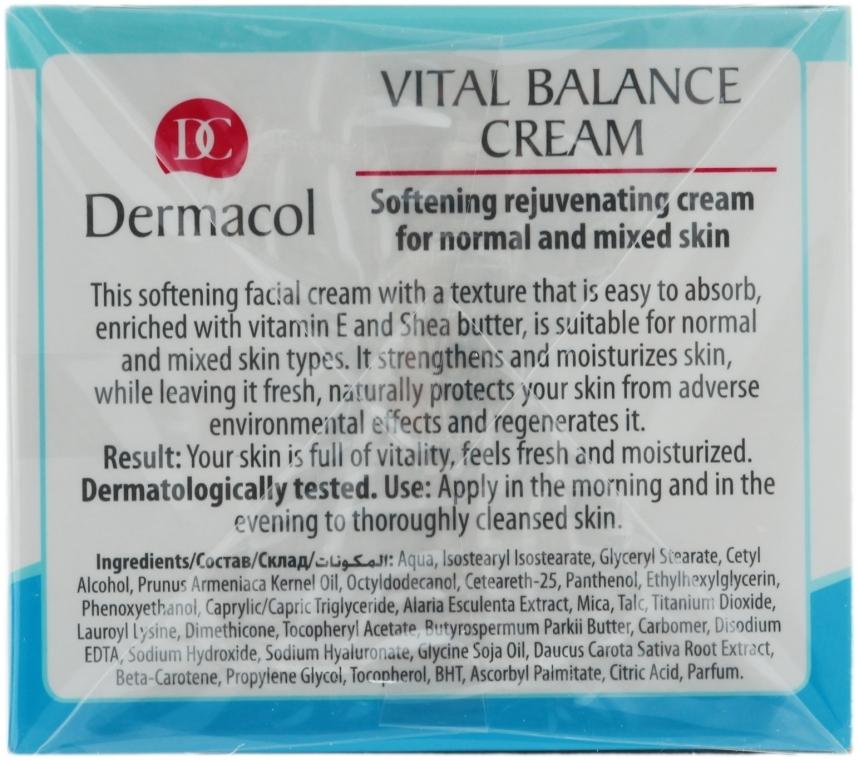 Cremă regenerantă, pentru pielea normală și combinată - Dermacol Face Care Vital Balance — Imagine N2
