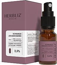 """Parfumuri și produse cosmetice Ulei spray pentru gură """"Coacăze negre"""" 2,5% - Herbliz CBD Oil Mouth Spray 2,5%"""