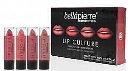 Parfumuri și produse cosmetice Set - Bellapierre Lip Culture 4 Pack Matte Lipsticks (l/stick/4x3.5g)