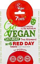 "Parfumuri și produse cosmetice Mască de față ""Nr.6 Red day"" - 7 Days Go Vegan Saturday Red Day"