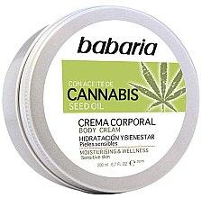 Parfumuri și produse cosmetice Cremă de corp - Babaria Cannabis Moisturizing Body Cream