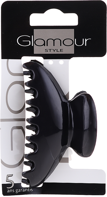 Заколка для волос, 0216, черная - Glamour — фото N1