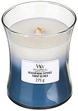 Parfumuri și produse cosmetice Lumânare aromată în suport de sticlă - WoodWick Hourglass Trilogy Candle Beachfront Cottage