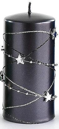 Lumânare decorativă, neagră 7x18cm - Artman Christmas Garland — Imagine N1
